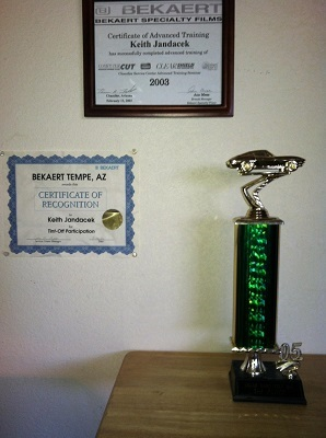 Tint Certificates and Awards, Phoenix AZ